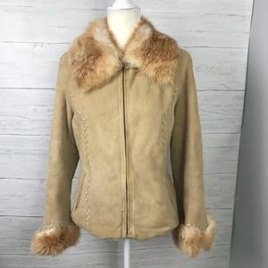DAY FUR SHEARLING JACKET WITH FOX TRIM